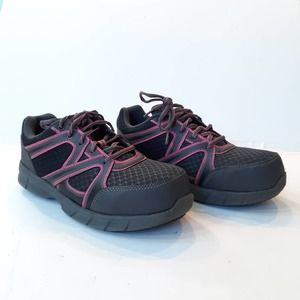 Brahma Gray Pink Joist Comp Toe Work Shoes 7.5